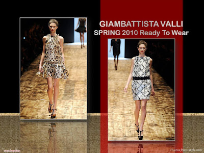 Giambattista Valli Spring 2010 Ready To Wear leopard-print chiffon dress