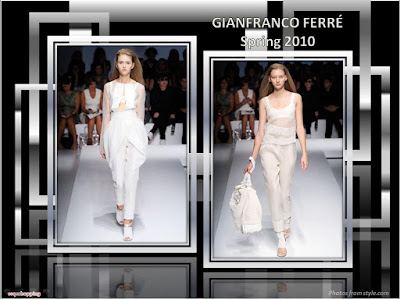 Gianfranco Ferre Spring 2010 Ready To Wear white see-thru tops and pants