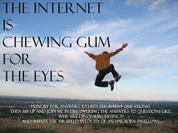 The Internet is Chewing Gum for the Eyes