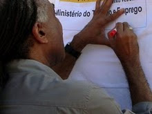 A assinatura do ministro Gilberto Gil.