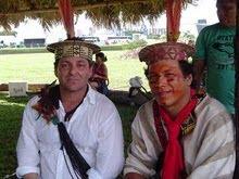 Piassa com o povo da etnia Ashaninka