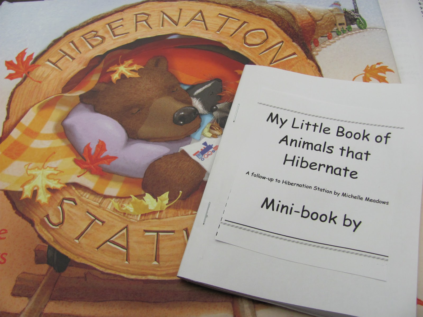 Lil country librarian all aboard the hibernation station for Hibernation crafts for preschool