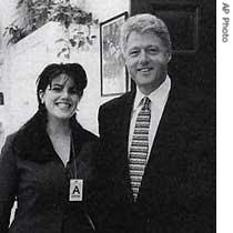 President Bill Clinton & Monicay Lewinsky Sex Scandal In Oval Office of White House