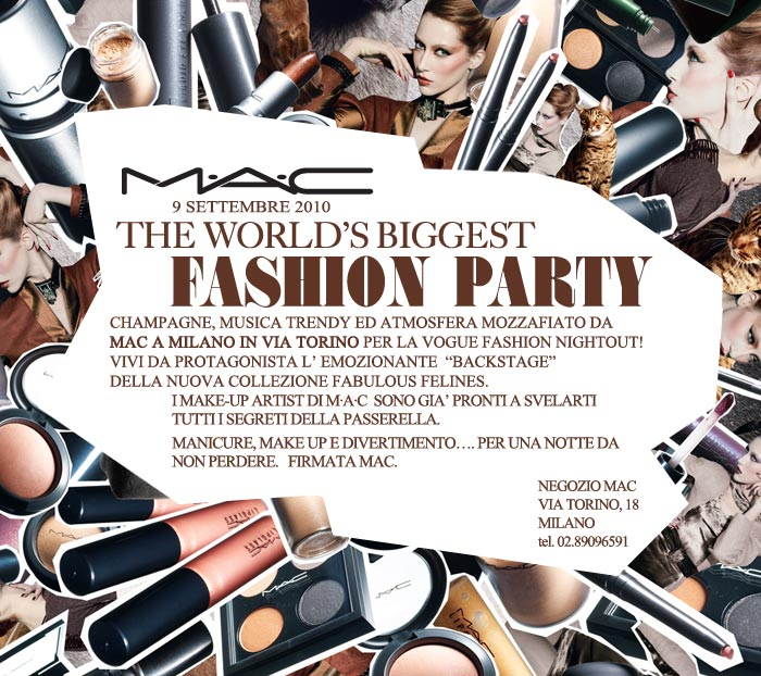 M•A•C Cosmetics Italia Blog: Inviti per il Vogue Fashion's ...