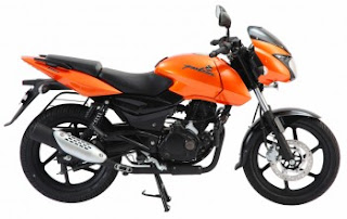Bajaj Pulsar Metallic Orange Colour