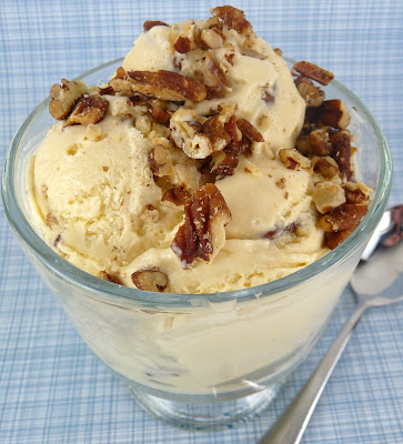 Christine 39 s cuisine butter pecan ice cream for Homemade butter pecan ice cream recipe