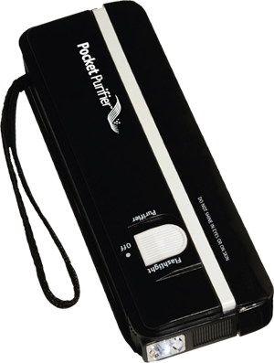 black pocket purifier ultraviolet sanitizier