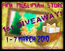 Pink Muslimah Store 1st Giveway