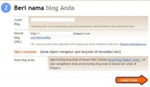 langakah ke dua buat blog
