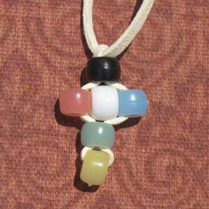 brimful curiosities vbs craft beaded cross necklace