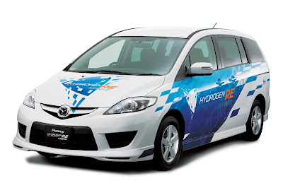 fuel cell electric prototype vehicle Mazda Premacy