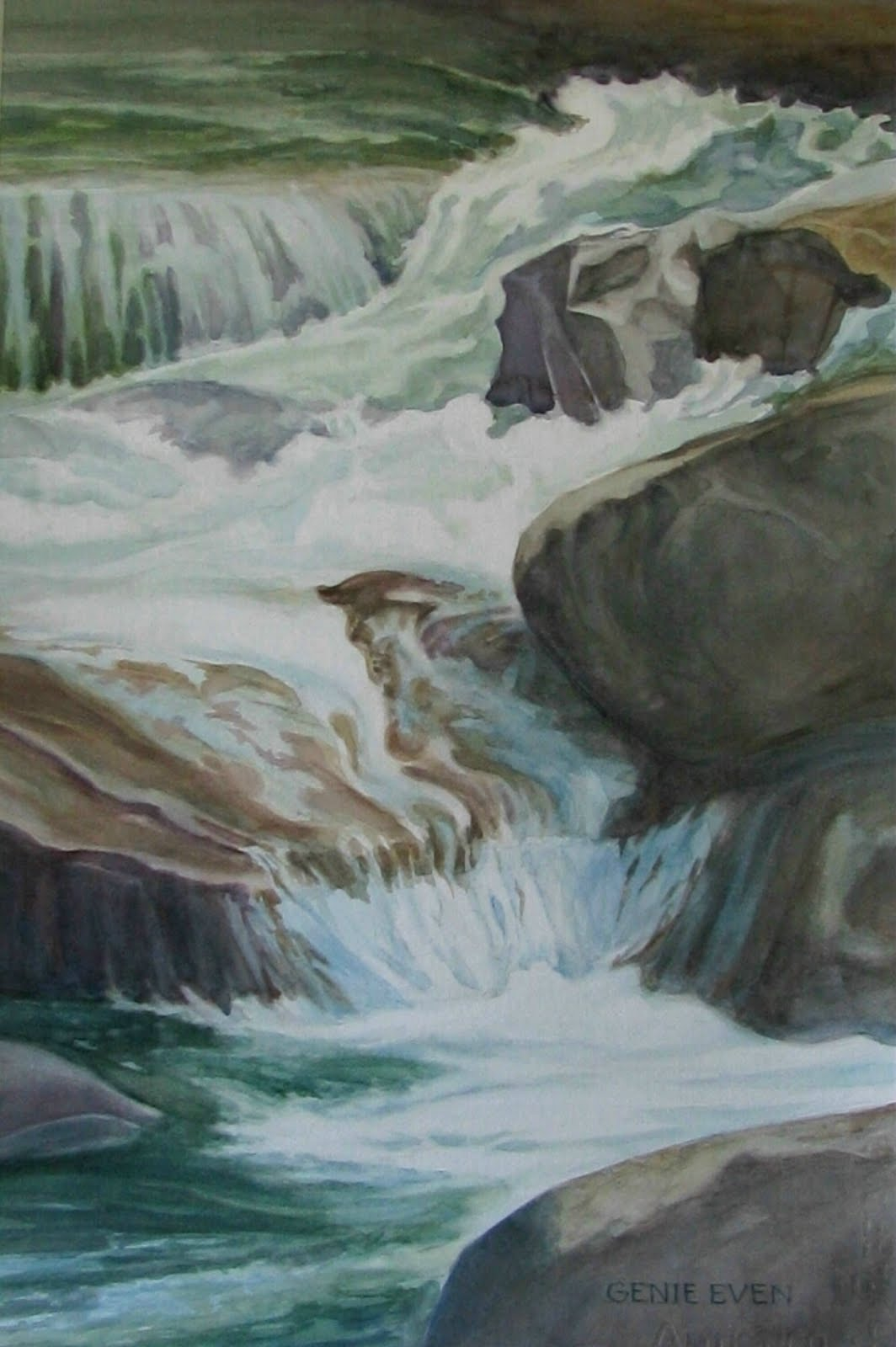 Watercolor art society of houston -  Waters Of The Smokies I Was Accepted By Frank Webb To Be In The33rd International Exhibition Of The Watercolor Art Society Houston March 6 April 9