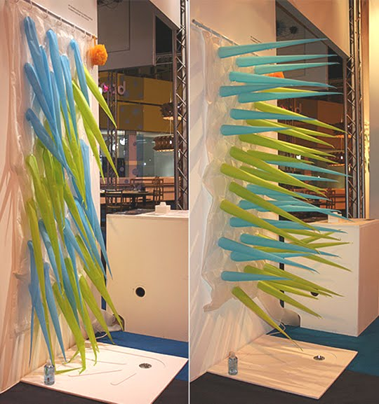The Afterburn Weird Shower Curtains