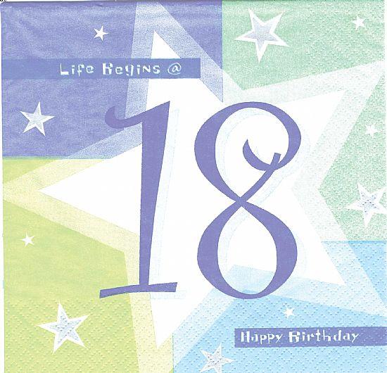 Birthday Cards: 18th Birthday Cards, Happy Eighteenth