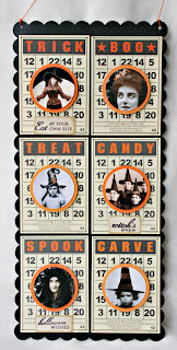 halloween bingo game card