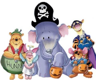 Halloween pooh friends ecard