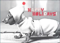 happy holidays by Dachshund