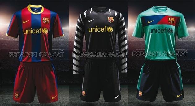 new FC Barcelona kits for 2010-2011 season