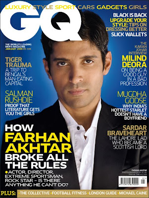 Farhan Akhtar on cover of GQ