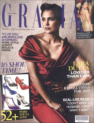 Lara Dutta on the cover of Grazia