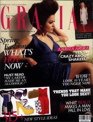 Amrita Arora on the cover of Grazia