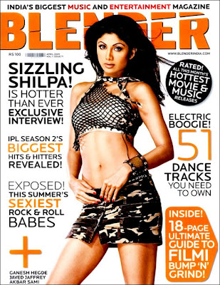 Shilpa Shetty sizzles on Blender cover