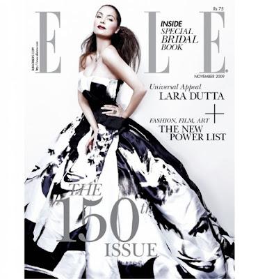 Lara Dutta graces Elle India - November 2009 edition