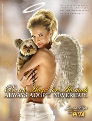 Joanna Krupa does PETA pet campaign