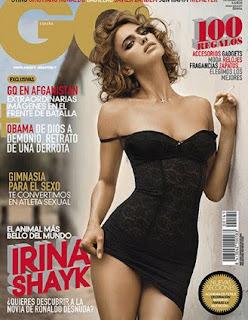 Cristiano Ronaldo's girlfriend Irina Shayk poses for GQ