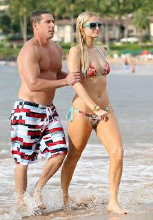 Paris Hilton enjoying Hawaii Beach in Sexy Bikini
