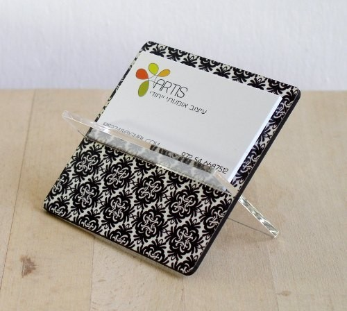 Craftedbylindy for the desk for Unusual business card holders