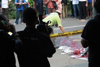 Foto kerusuhan di jalan Ampera<br />