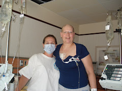 Kathy and fellow MS patient Sandy,  She is ready to go home after 3 weeks,  Congrats Sandy!!