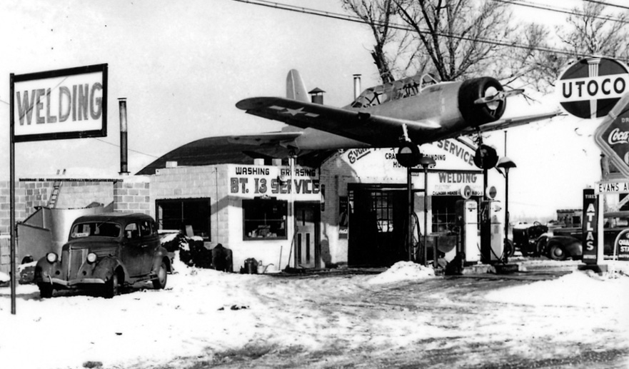 Car Reviews I D Love To Go See These Gas Stations With Fighter Planes And Bombers