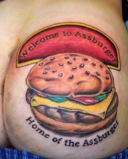 tatuagem hamburguer