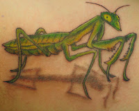 louva-deus verde tatuagem