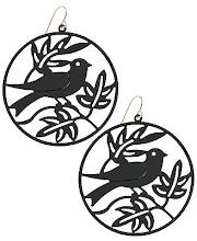 Aros pájaros black