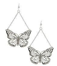 Aros mariposa silver