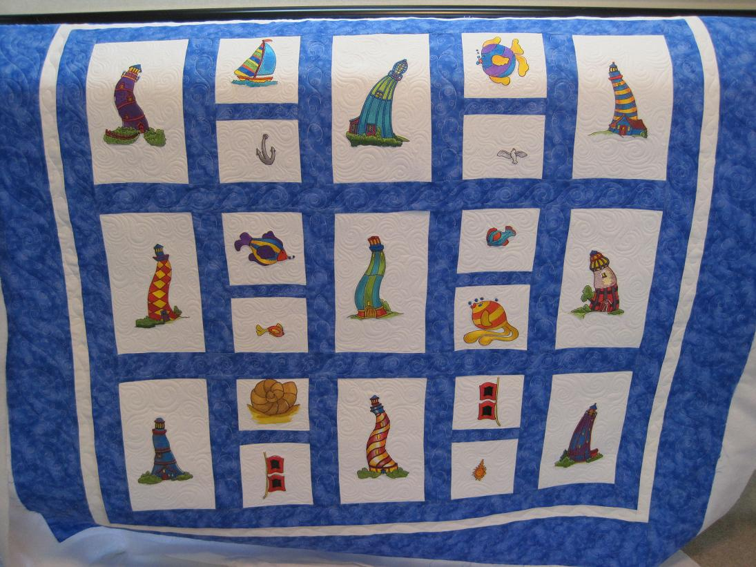 Quilting Lighthouse Patterns : Thread Waggle Quilting: Funky Lighthouse Quilt