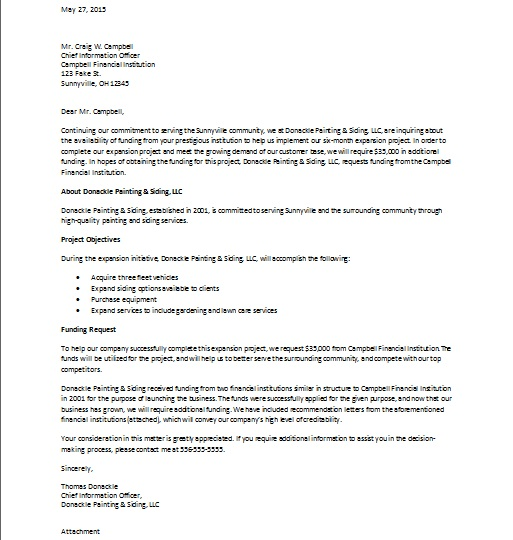 Sample Business Proposal Cover Letter | Resume Cv Cover Letter