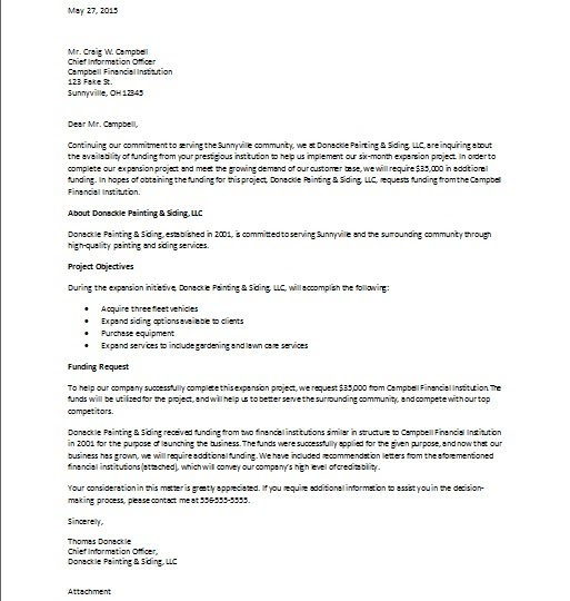 Business Proposal Letter. Sample Business Proposal Cover Letter 7