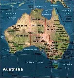 mapa poltico da austrlia um pas do hemisfrio sul localizado na oceania que compreende a menor rea continental do mundocontinente australiano