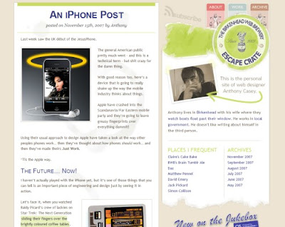 Anthony Casey, Excellent Blog Designs