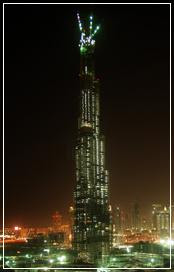 Burj Dubai, 141 Floors, 141, Floors, Night, Tallest Building
