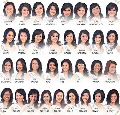 33 Finalis Miss Indonesia 2010