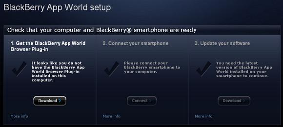 Blackberry App World Online Setup