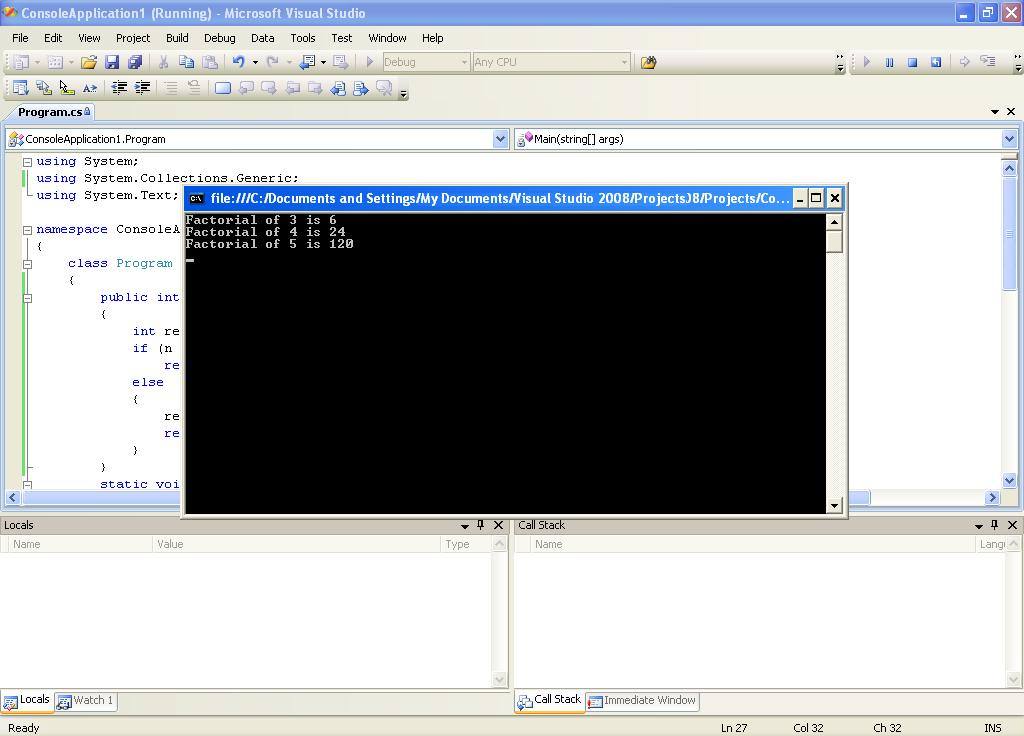 project csharp  c    factorial of a number in c  csharp