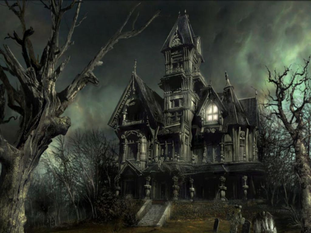 Halloween scary house wallpapers