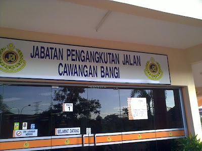 Menghidupkan Cukai Jalan Di JPJ Cawangan Bangi