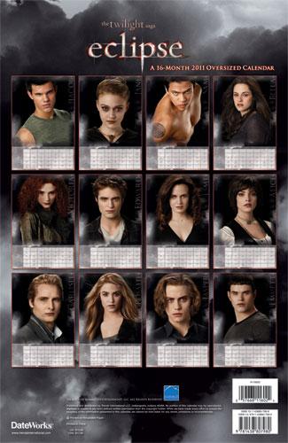 Twilight France: Premières images du calendrier 2011 d'Eclipse